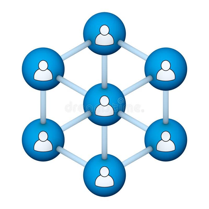 Symbole social de réseau illustration de vecteur