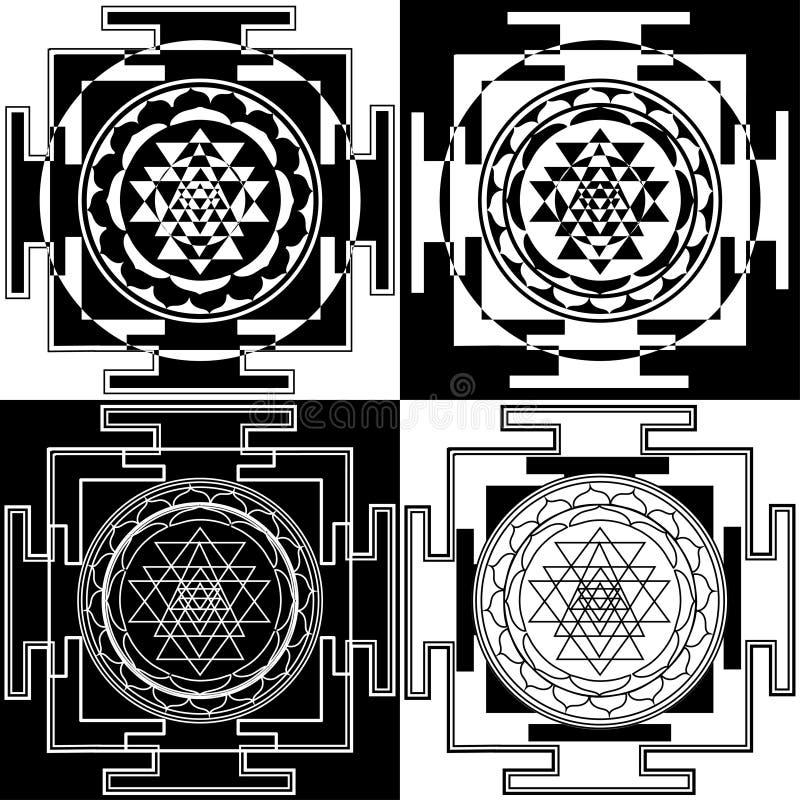 Symbole Sri Yantra illustration de vecteur