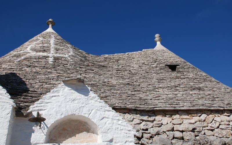 Symbole sur le toit de Trullo photos libres de droits