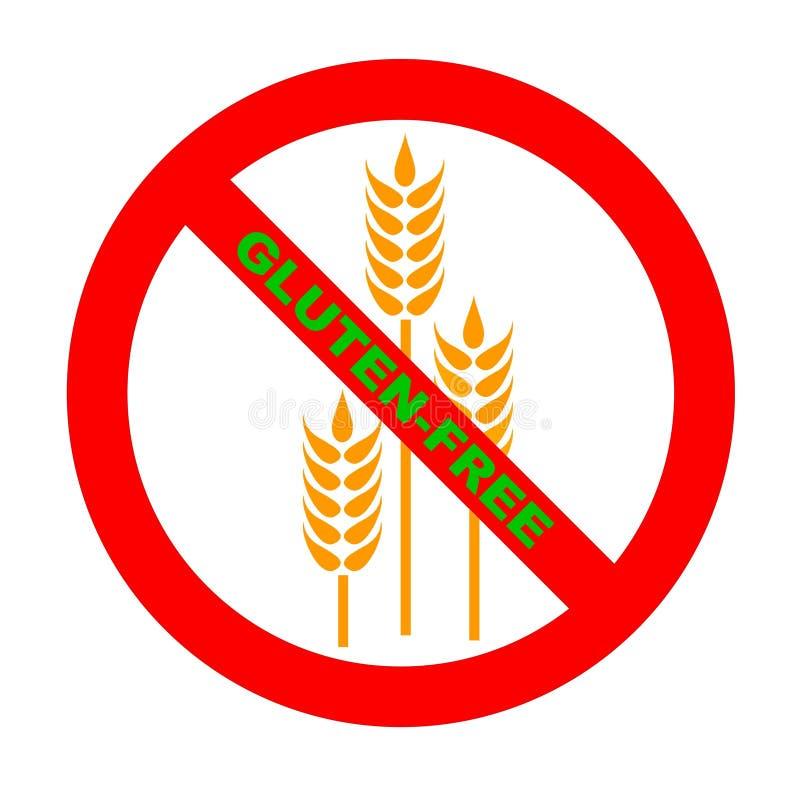 Symbole : Texte Gluten-Libre de GF illustration libre de droits