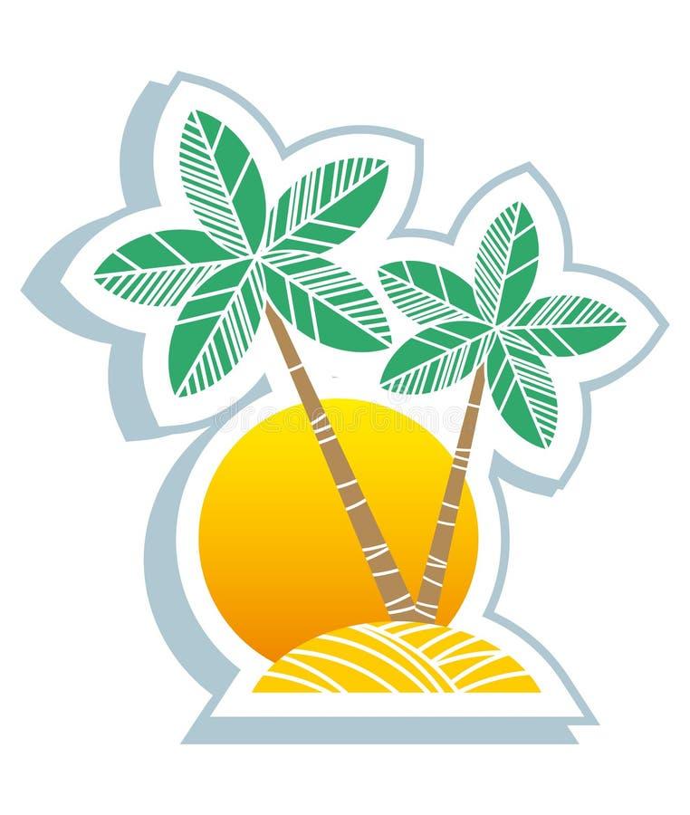 Symbole tropical illustration stock