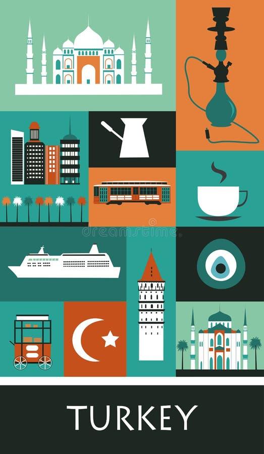 Symbole Turcja royalty ilustracja