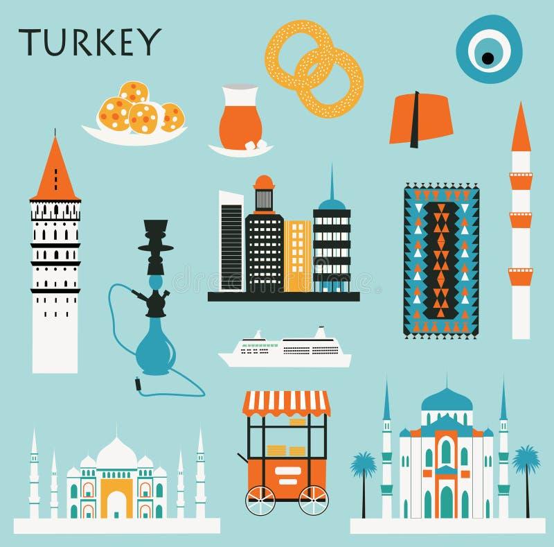 Symbole Turcja ilustracja wektor