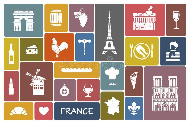 Symbole von Frankreich lizenzfreie abbildung