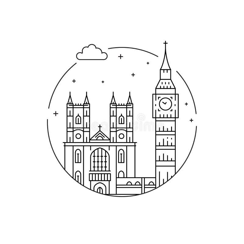 Symbole von London lizenzfreie abbildung