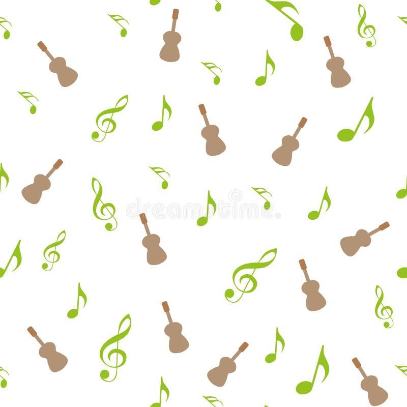 Symbole von Musik Sechzehntes, achtes, Viertel und halbe Note mit dreifachem und Bassschlüssel lizenzfreie abbildung