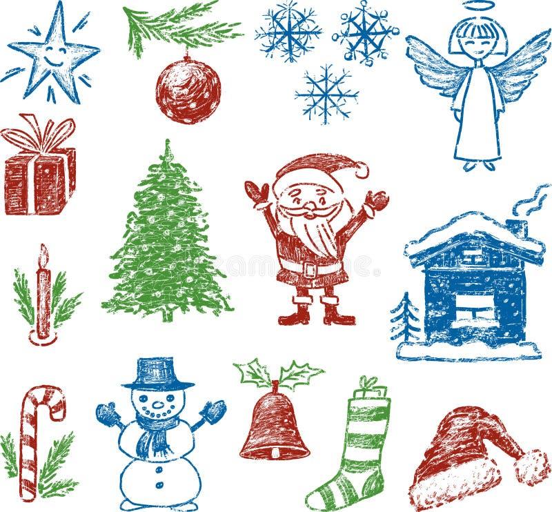 Symbole von Weihnachten vektor abbildung