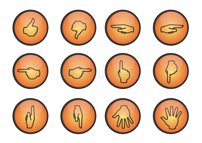 symbole wektorowe rąk ilustracji