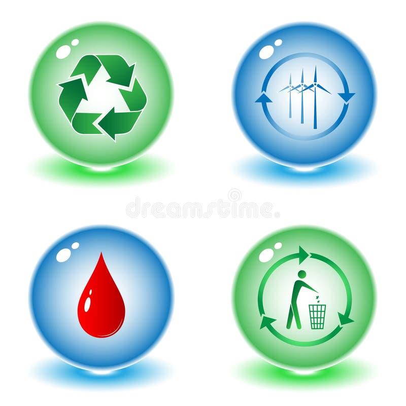 symbole wektorowych przetworzone ilustracja wektor