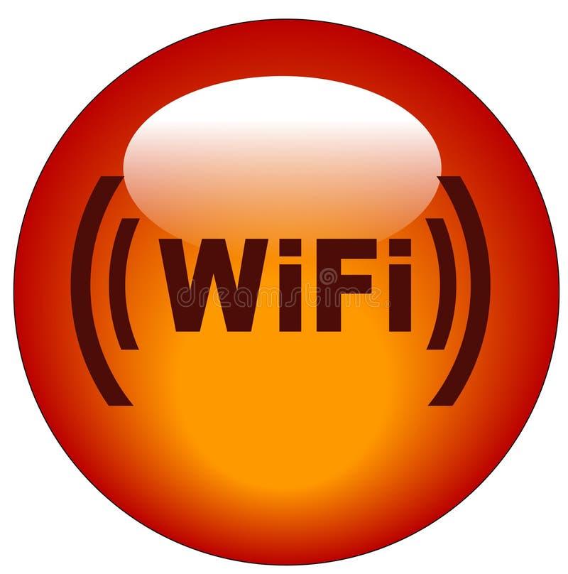 symbole wifi przycisk ilustracji