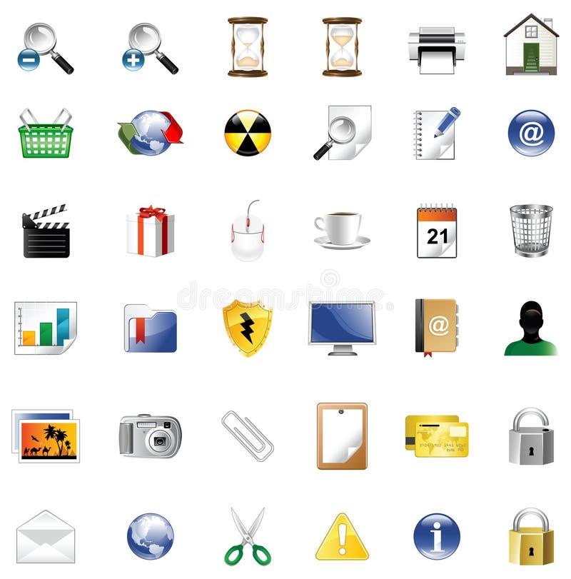 symbole wyznaczają stronę