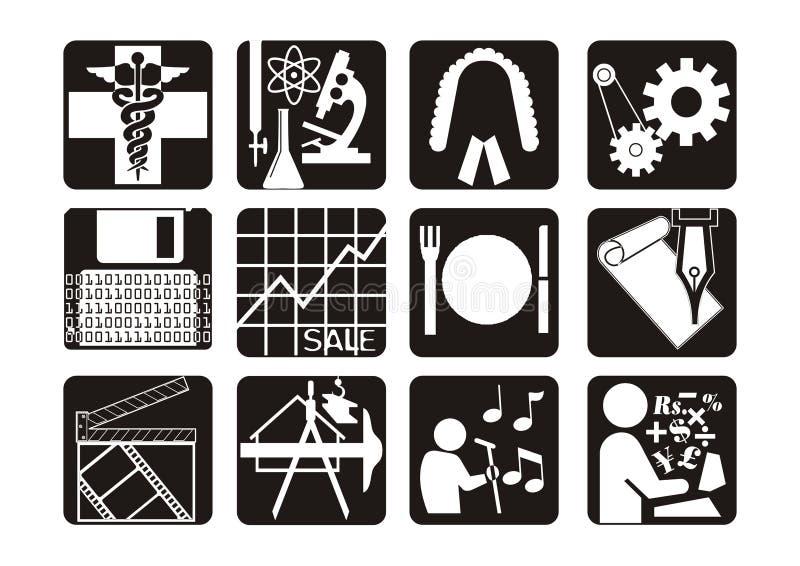 symbole zawodowych ilustracji