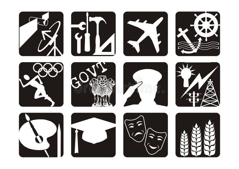 symbole zawodowych ilustracja wektor