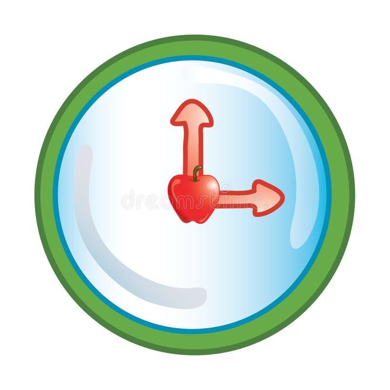 symbole zegara do szkoły ilustracja wektor