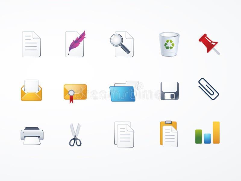 symbole zestaw dokumentów ilustracji