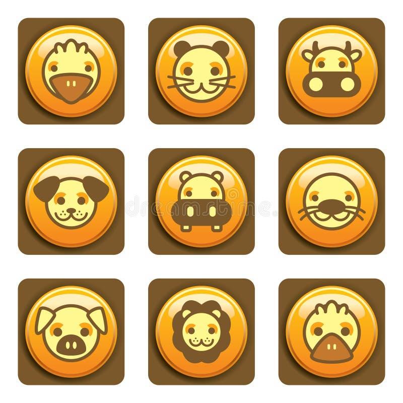 symbole zwierząt. zdjęcia stock