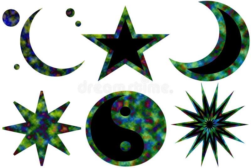 Symbolen 2 Van Karma Stock Illustratie Illustratie Bestaande Uit
