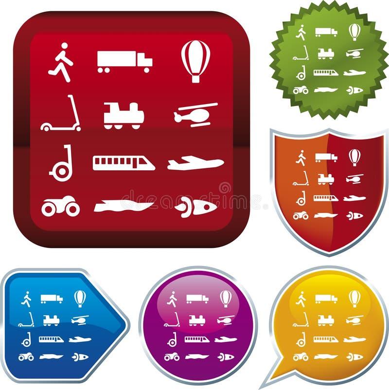 symbolen betyder serietransport royaltyfri illustrationer