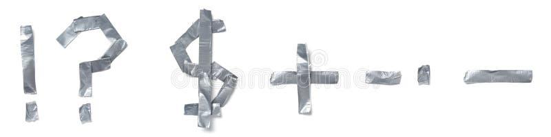 Symbolen die uit band worden gemaakt stock afbeeldingen