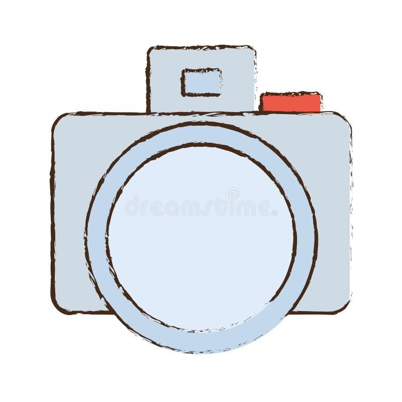 symbolen för bilden för fotokamerabilden skissar royaltyfri illustrationer