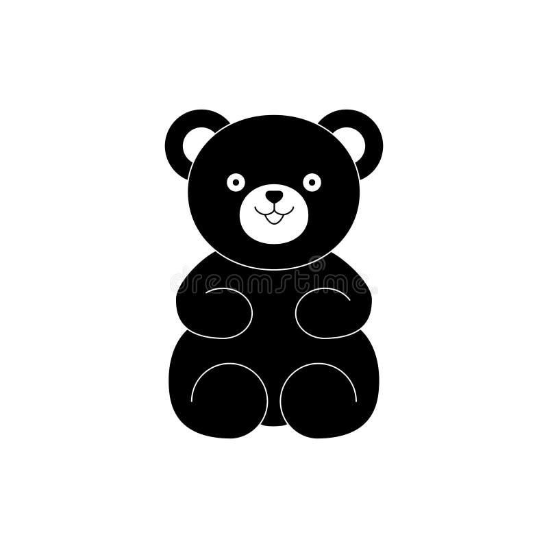 Symbolen för björnnalleleksaken för behandla som ett barn gåvan royaltyfri illustrationer