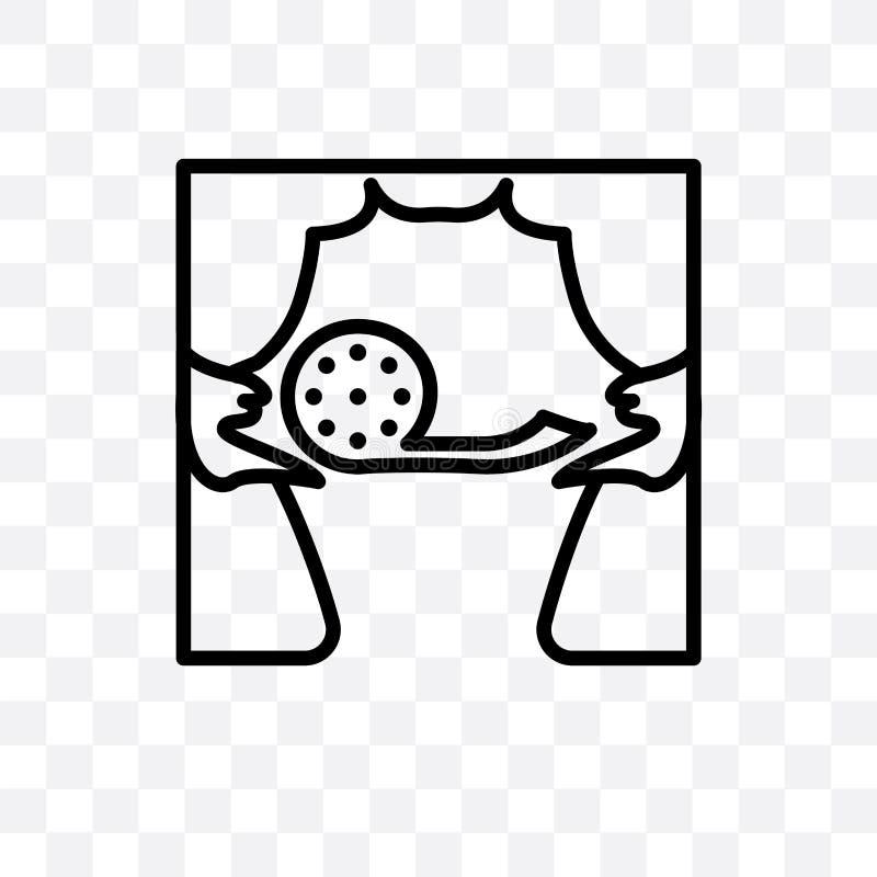 symbolen för den tillförordnade vektorn för stämman som kan den linjära isoleras på genomskinlig bakgrund, tillförordnat stordiab royaltyfri illustrationer