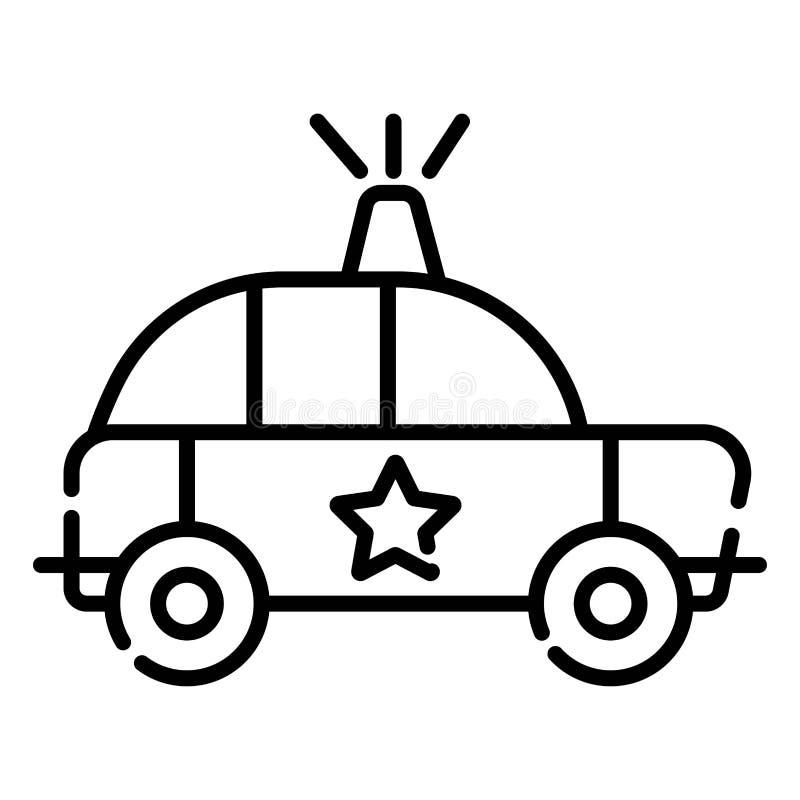 Symbolen för polisbilen, vektor iolated den plana illustrationen stock illustrationer