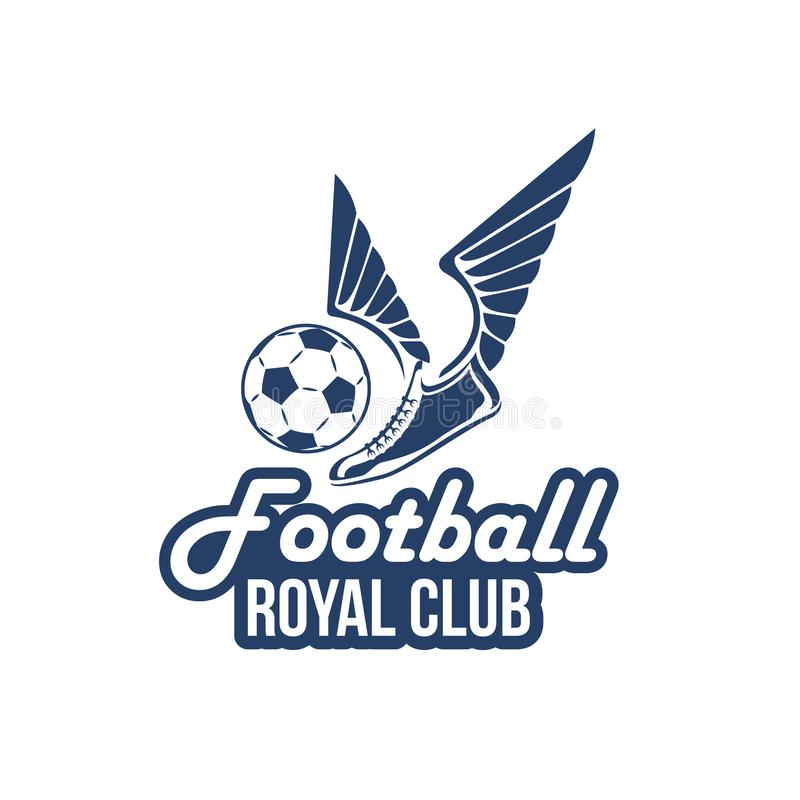 Symbolen för vektorfotbollklubban av fotbollbollen påskyndar stock illustrationer