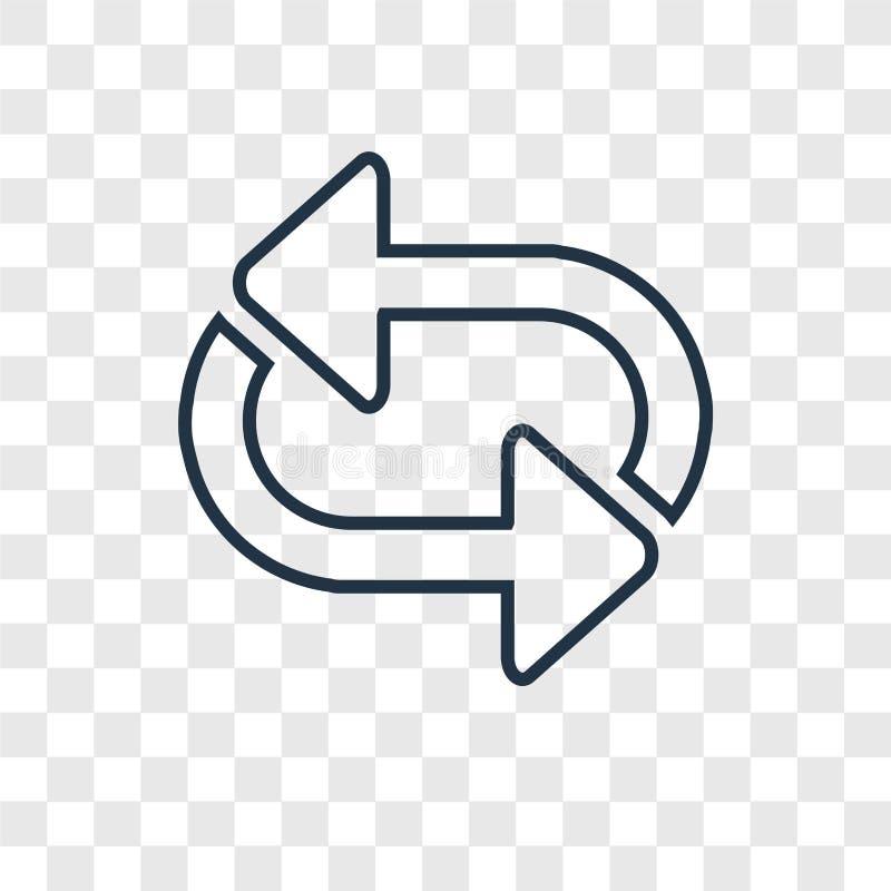 Symbolen för vektorn för rörapilbegreppet som transparen den linjära isoleras på royaltyfri illustrationer