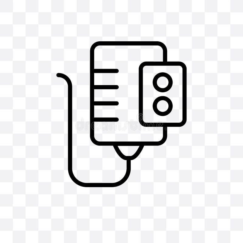 Symbolen för vektorn för vattenvärmeapparaten som kan den linjära isoleras på genomskinlig bakgrund, begrepp för stordia för vatt vektor illustrationer
