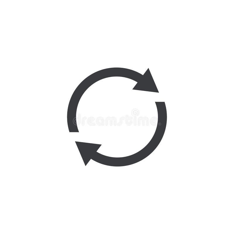 symbolen förnyar Knapp för manöverenhet för vektorformomstart Beståndsdel för app eller website för design mobil royaltyfri illustrationer