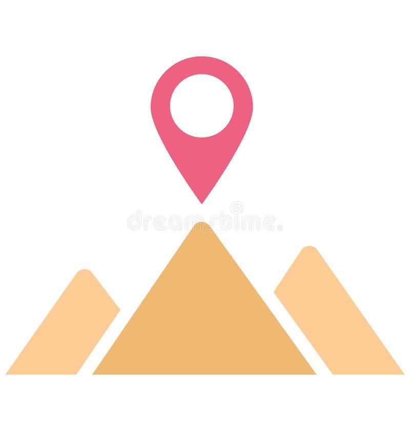 Symbolen f?r vektorn f?r systemet f?r geografisk information om trycket isolerade den isolerade, som kan l?tt ?ndra eller rediger stock illustrationer