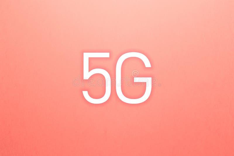 Symbolen 5G knyter kontakt trådlösa system och internet av saker vektor illustrationer
