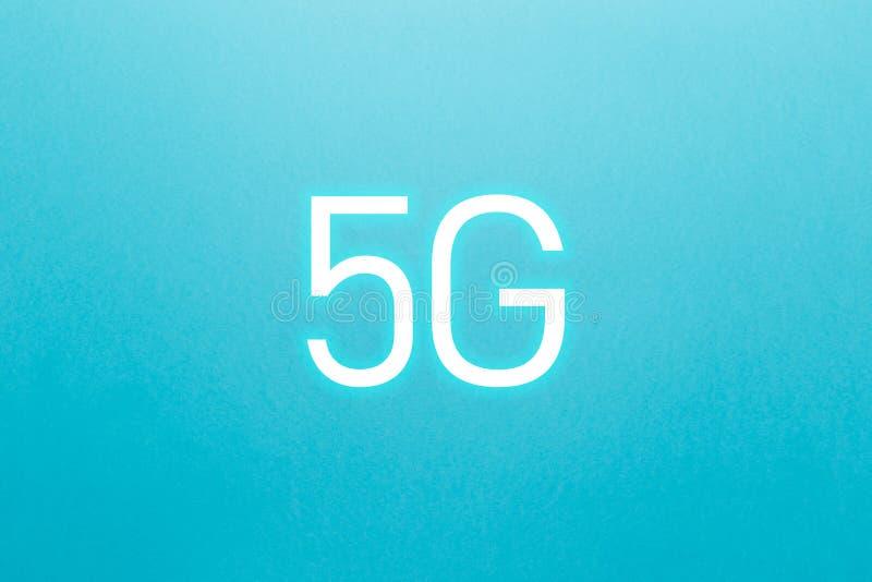 Symbolen 5G knyter kontakt tr?dl?sa system och internet av saker E stock illustrationer