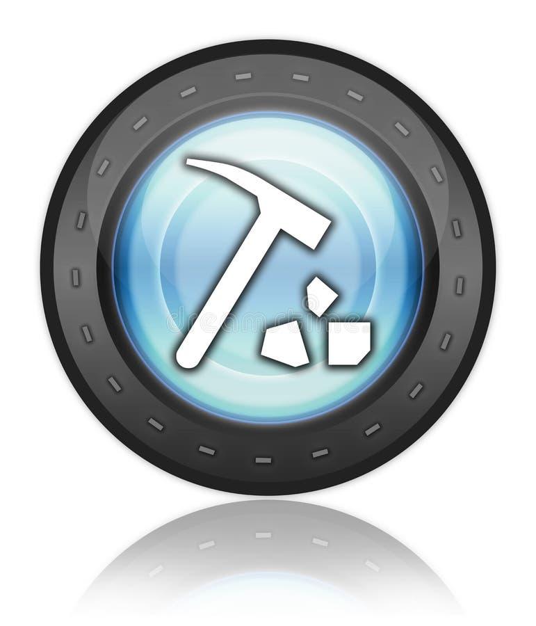 Symbolen knappen, Pictogram vaggar att samla royaltyfri illustrationer