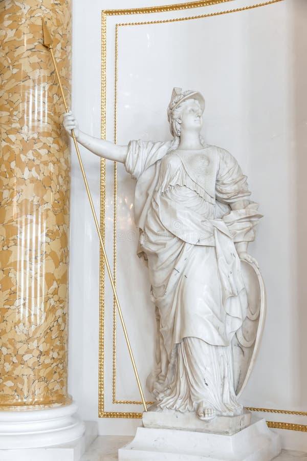 Symbolen in kunsten - standbeeld van Athena. royalty-vrije stock afbeelding
