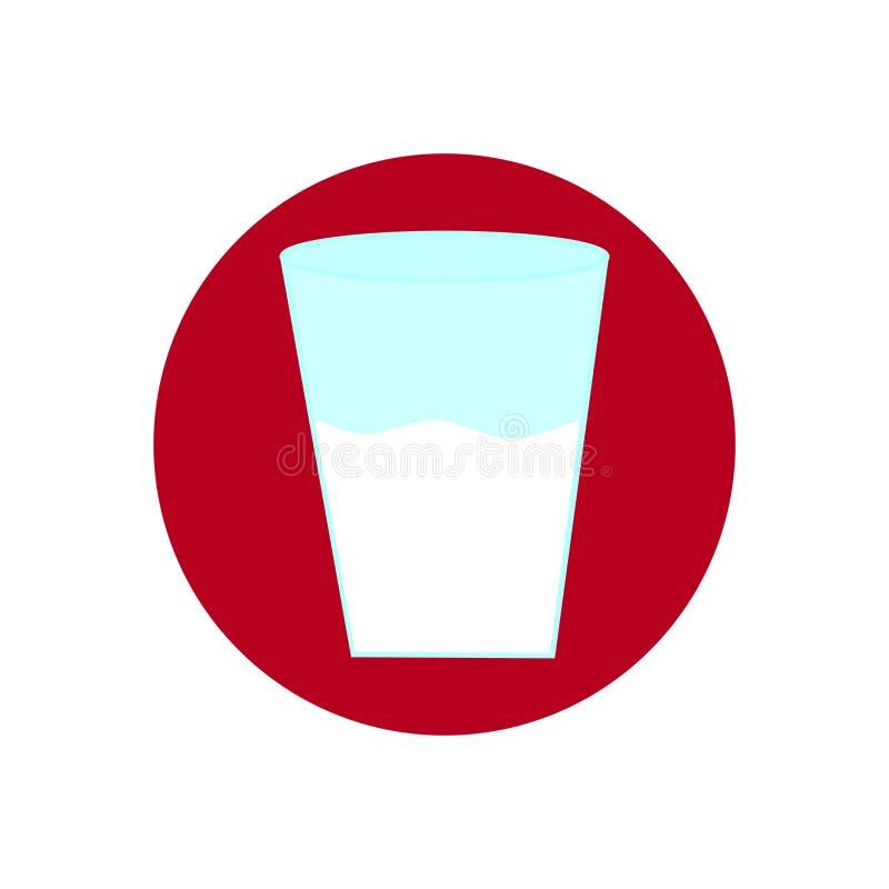 Symbolen med ett exponeringsglas med mjölkar fotografering för bildbyråer
