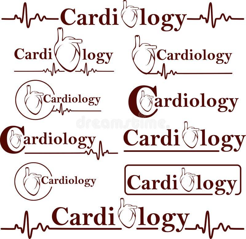 Symbolen van cardiologie stock illustratie