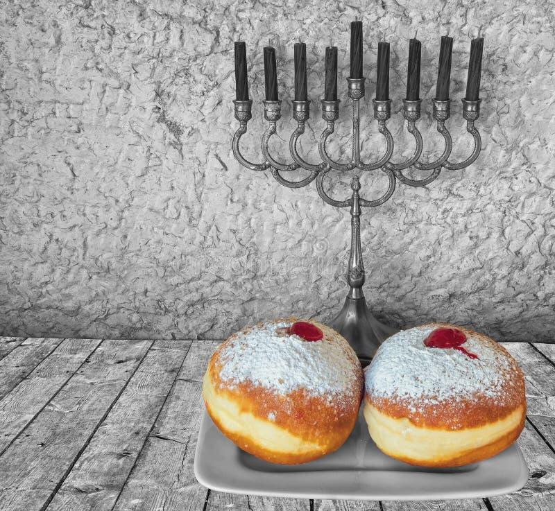 Symbolen van de Chanoeka de Joodse vakantie royalty-vrije stock fotografie