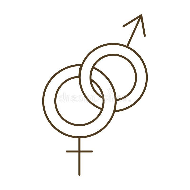 Symbolen van de mens en vrouw ge?soleerd pictogram vector illustratie
