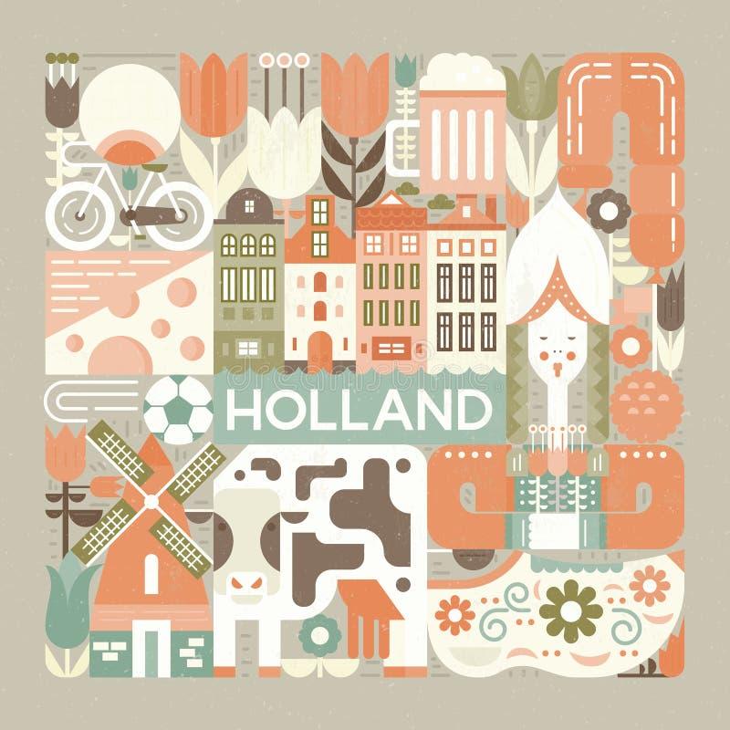 Symbolen van Holland vector illustratie