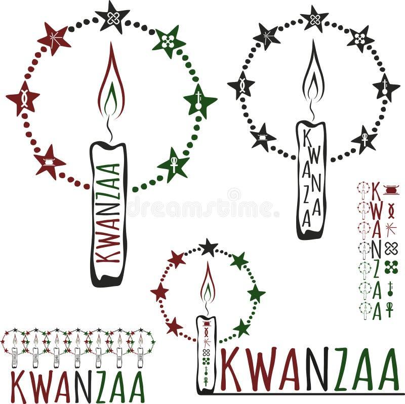 Symbolen van Kwanzaa stock illustratie