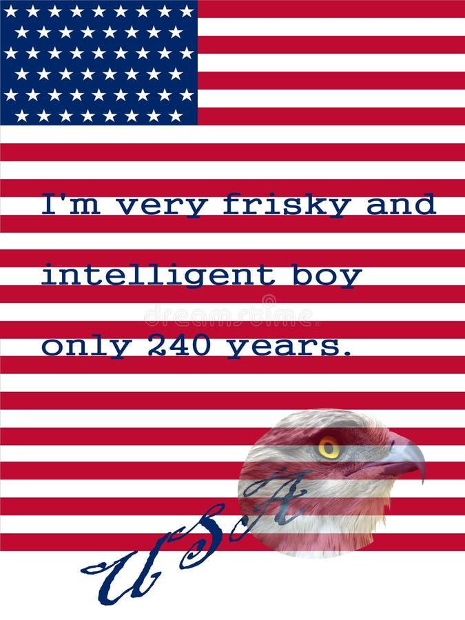 Symbolen van Onafhankelijkheidsdag stock fotografie