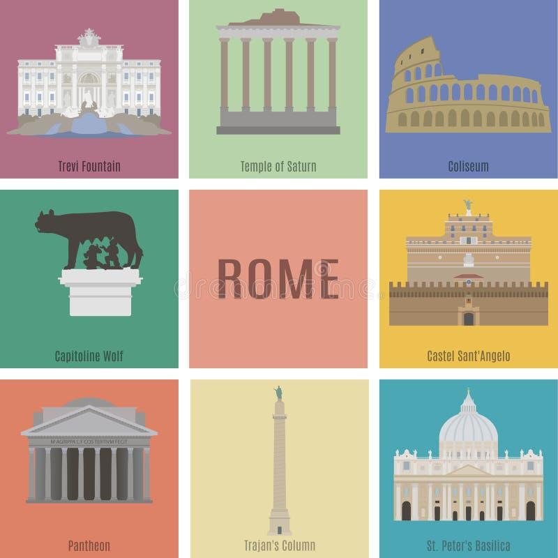 Symbolen van Rome stock illustratie