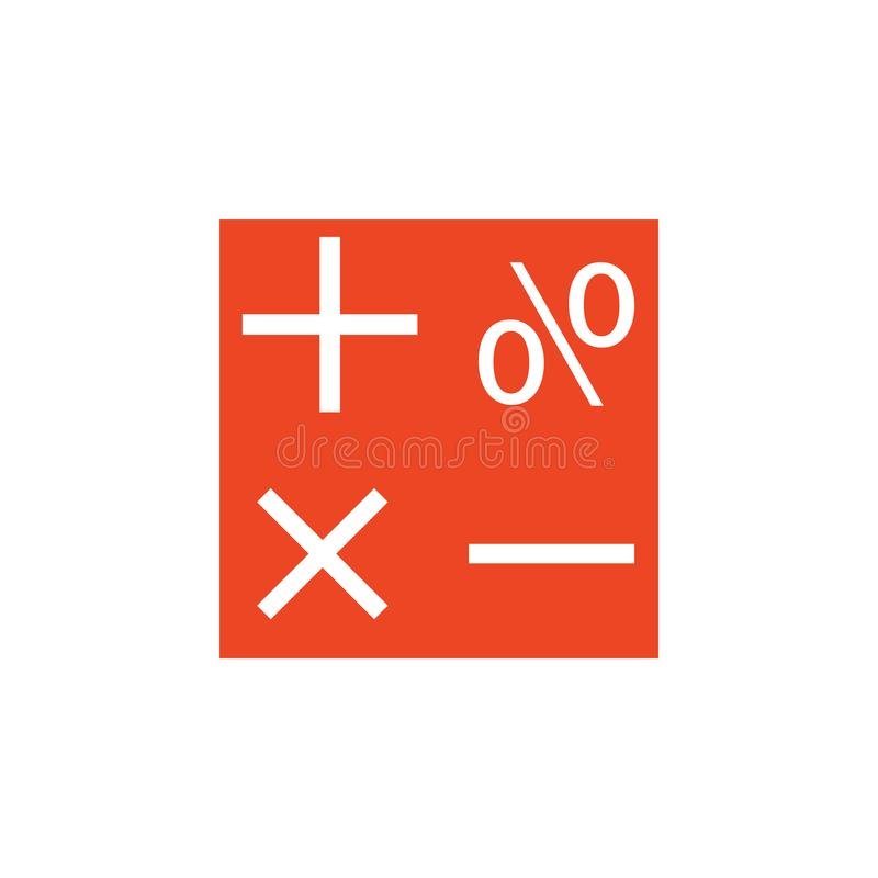 symbolen van wiskunde gekleurd pictogram Element van schoolpictogram voor mobiel concept en Web apps Gedetailleerde symbolen van  royalty-vrije illustratie