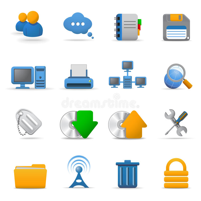 symboler 1 part rengöringsduk stock illustrationer