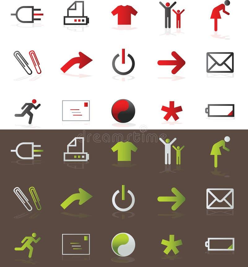 symboler royaltyfri illustrationer