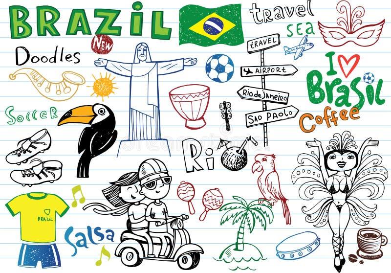 Symboler av Brasilien, vektor illustrationer