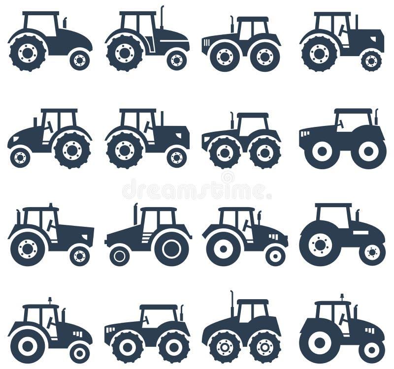 symboler av en traktor vektor illustrationer