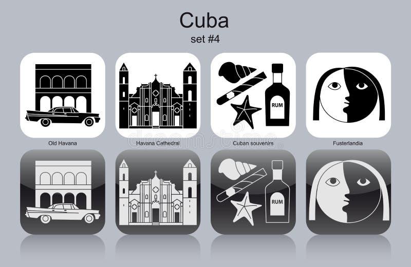Symboler av Kuban vektor illustrationer